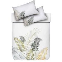 Palm Gold Embellished Duvet Cover Set