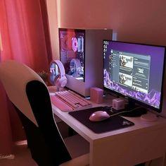 Gaming Desk Setup, Computer Gaming Room, Best Gaming Setup, Gamer Setup, Computer Setup, Pc Setup, Cool Gaming Setups, Gaming Rooms, Computer Mouse
