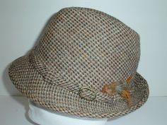 Vintage DOBBS HARRIS TWEED Fedora Wool Hat - Handwoven in Scotland Size 7 #DobbsHarrisTweed #FedoraTrilby