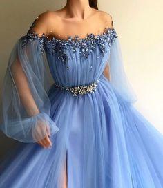 blauer rundhalsausschnitt tull spitze applique langes abendkleid blaues abendkleid vestidos 2 - The world's most private search engine Petite Dresses, Elegant Dresses, Sexy Dresses, Cute Dresses, Fashion Dresses, Formal Dresses, Party Dresses, 90s Fashion, Long Dresses