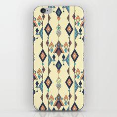Vintage ethnic tribal aztec ornament iPhone & iPod Skin