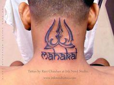 Trishul with mahakal. Tattoo by Ravi Cha uhan. Shiva Tattoo, Sanskrit Tattoo, Lord Shiva Hd Wallpaper, Trishul, Tattoo Designs, Tattoo Ideas, Tattoo Studio, Tribal Tattoos, Tattoos For Guys