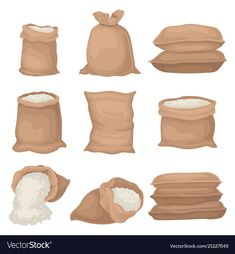 Find Flat Vector Set Burlap Sacks Rice stock images in HD and millions of other royalty-free stock photos, illustrations and vectors in the Shutterstock collection. Burlap Sacks, Rice Bags, Grocery Items, Instagram Logo, Window Art, Flat Color, Food Art, Illustration, Royalty Free Stock Photos