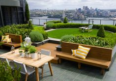 Well....the view, the furniture, the paving, the amazing roof top garden!