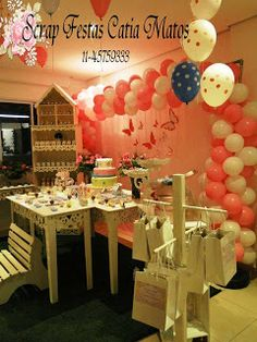 Scrap Festas: Aniversário Shabby Chic Jardim das Borboletas