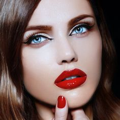 summer makeup ideas with red lipstic - Google Search