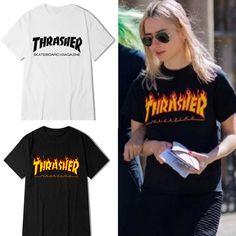2017 חדש נשים גברים בחולצות טי שרוול קצר סקייט סקייטבורד thrasher חולצות T חולצות חולצה לא היפ הופ איש Homme Trasher חולצות T
