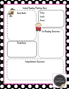 Classroom Freebies: Four Free Guided Reading Planning Sheets!