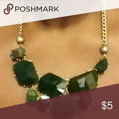 Green goldtone statement necklace Green goldtone statement necklace Jewelry Necklaces