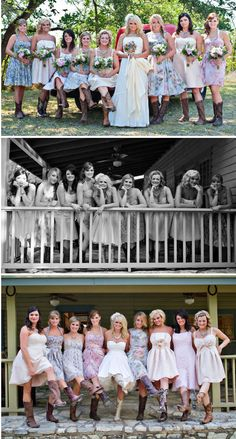 A spin on traditional bridal party shots : Featured Wedding: Junk Gypsy Plans a Miranda Lambert