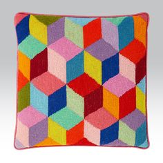 Bright Tumbling Blocks - Ehrman Tapestry