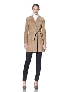 Beyond 50% OFF Dawn Levy Women\'s Suede Trench