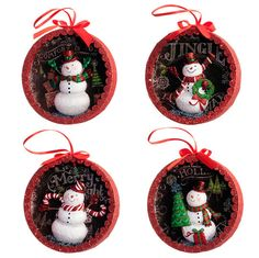 """The Jolly Christmas Shop - Raz 4.5"""" Snowman Shadow Box Christmas Ornament 3407028, $8.99 (http://www.thejollychristmasshop.com/raz-4-5-snowman-shadow-box-christmas-ornament-3407028/?page_context=category"""