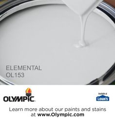 ELEMENTAL OL153 is a part of the grays & blacks collection by Olympic® Paint.  *Living Room/Dining Room/ Hallway*