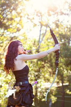 Real life Disney Princess. Merida. Archery inspired Senior Portrait, seniors, teens, themed shoot,