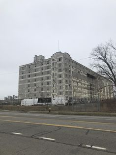 War zone ruin or abandoned building in Detroit?