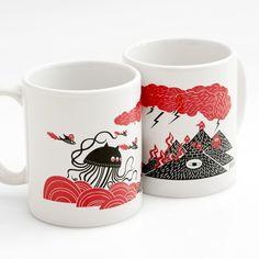 Alien Mug by Leah Chun #Mug #Leah_Chun
