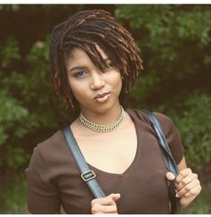 Short colored locs
