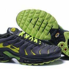 149155edf7a94 2014 Black Green Mens Nike Air Max TN Classic Shoes AM7737