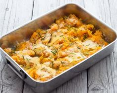 Pumpkin Gratin from 16 Healthy, Simple, and Impressive Dinner Party Dishes Cajun Chicken And Rice, Pumpkin Casserole, Hot Snacks, Vegetarian Recipes, Healthy Recipes, Warm Food, Fall Dinner, Breakfast For Dinner, Polenta