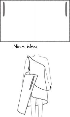 DIY Draped Dress (Wrap Dress) — A simple self-drafted rectangle is easily transformed into a Grecian-style beach coverup. DIY Draped Dress (Wrap Dress) — A simple self-drafted rectangle… Sewing Clothes, Diy Clothes, Dress Sewing, Clothing Patterns, Sewing Patterns, Skirt Patterns, Mccalls Patterns, Blouse Patterns, Sewing Ideas