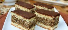 Hungarian Desserts, Romanian Desserts, Romanian Food, Hungarian Recipes, Sweets Recipes, Cake Recipes, Opera Cake, Non Plus Ultra, Homemade Cookies