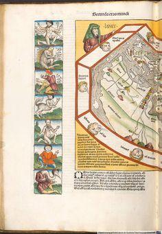 Harta lumii cunoscute (jumătatea vestică)