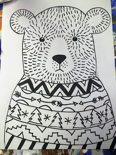 art projects Elements of the Art Room: grade Ugly Sweater Bears Christmas Art Projects, Winter Art Projects, School Art Projects, First Grade Art, Ecole Art, Art Lessons Elementary, Elementary Teacher, Bear Art, Elements Of Art