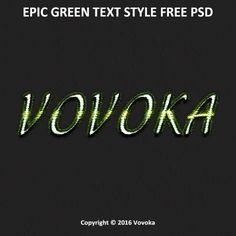 Зеленый стиль текста psd скачать