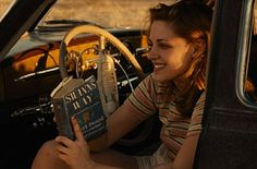 Kristen Stewart reading Swann's Way.  Or is that just her character?