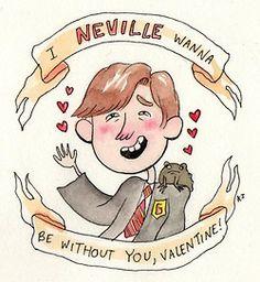 HP valentine from Newyorkkittyart.blogspot.com  -Kjersti Faret
