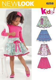 "Elastic ""circle"" and yoked ""circle"" skirt 1 1/4 yds up to 27"" waist length 15 1/4"""