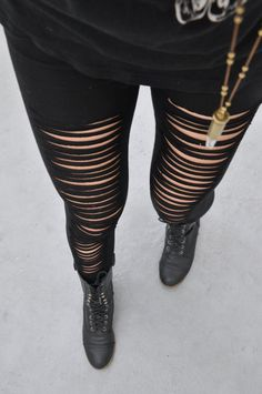 Hey, I found this really awesome Etsy listing at https://www.etsy.com/listing/153776517/black-slashed-cotton-leggings-womens