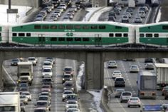 The Go Train, Toronto's commuter rail system, crosses the 401 at several points. My Ride, Quebec, Ontario, North America, Toronto, To Go, Canada, Crosses, Train