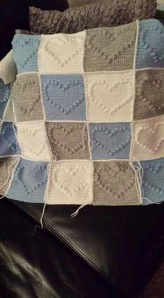 Ledikant deken Haken Baby, Om, Plaid, Decor Ideas, Throw Pillows, Quilts, Blanket, Gingham, Toss Pillows