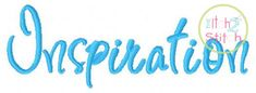 Inspiration Embroidery Font For Machine Embroidery Hoop