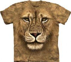 Lion Warrior T-shirt | The Mountain® | Big Face Animals™ T-shirts | Lion T-shirts