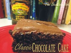THE DEVILISH DISH: CLASSIC CHOCOLATE CAKE  http://thedevilishdish.blogspot.com/2015/02/classic-chocolate-cake.html