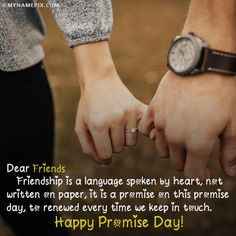 A new and romantic way to wish Promise Day to the loved one. Get Happy Promise Day quotes with name of your love. Make feel them extra special. Happy Promise Day Image, Promise Day Images, Friend Friendship, Friendship Quotes, Someone Special Quotes, Valentine Day Week, Name Pictures, Friends Image, Birthday Gift For Him