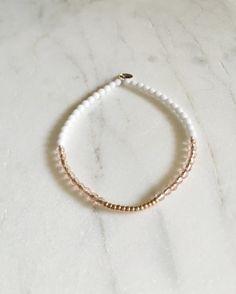 Simple Beaded Bracelet // Glass Beaded Bracelet // by KristinaCo