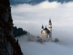 Neuschwanstein Castle... This mountain castle is located in Germany and supposedly was the inspiration for the Disney castles.