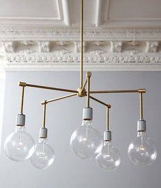 #GOLD #DIY #CHANDELIER IMAGE FROM https://www.onekingslane.com/live-love-home/brass-chandelier-diy/ #interior #design