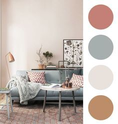 The living room color schemes to give the impression of a more colorful living. Find pretty living room color scheme ideas that speak your personality. Decor, Home Living Room, Living Room Color Schemes, Hall Colour, Living Room Decor, Fixer Upper Living Room, Interior Color Schemes, Interior Design Bedroom, Home Decor Furniture