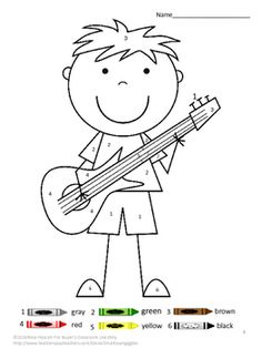 Color by Number MathColor by Number MusicColoring Pages Special