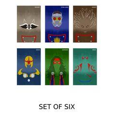 A Design Geek - Guardians of the Galaxy Minimalist Art Posters (Set of 6), $40.99 (http://www.adesigngeek.com/guardians-of-the-galaxy-minimalist-art-posters-set-of-6/)