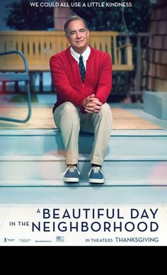 A Beautiful Day in the Neighborhood Directed by Marielle Heller. With Tom Hanks, Matthew Rhys, Enrico Colantoni, Susan Kelechi Watson. Based on the true story of a real-life friendship between Fred Rogers and journalist Tom Junod. New Movies, Good Movies, Movies Online, Movies And Tv Shows, Movies 2019, Watch Movies, Latest Movies, Imdb Movies, Fred Rogers