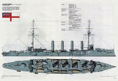 "HMS ""Good Hope"" was one of four Drake-class armoured cruisers built for the Royal Navy Sunk at the Battle of Coronel, 1 November 1914 Capital Ship, Marina Real, Arpeggio Of Blue Steel, Naval History, Navy Ships, American War, Military Weapons, Submarines, Hale Navy"