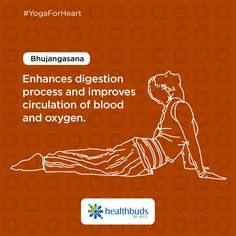 Enhance your digestion and O2 circulation in blood with Bhujangasana. #YogaForHeart #WorldHeartDay