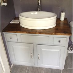 How To Install A Bathroom Countertop And Vessel Sink Home Decor Pinterest Diy Network