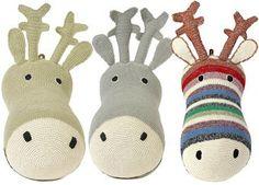 goud of zilver rendier aan de muur crochet Anne-Claire Petit | kinderen-shop Kleine Zebra